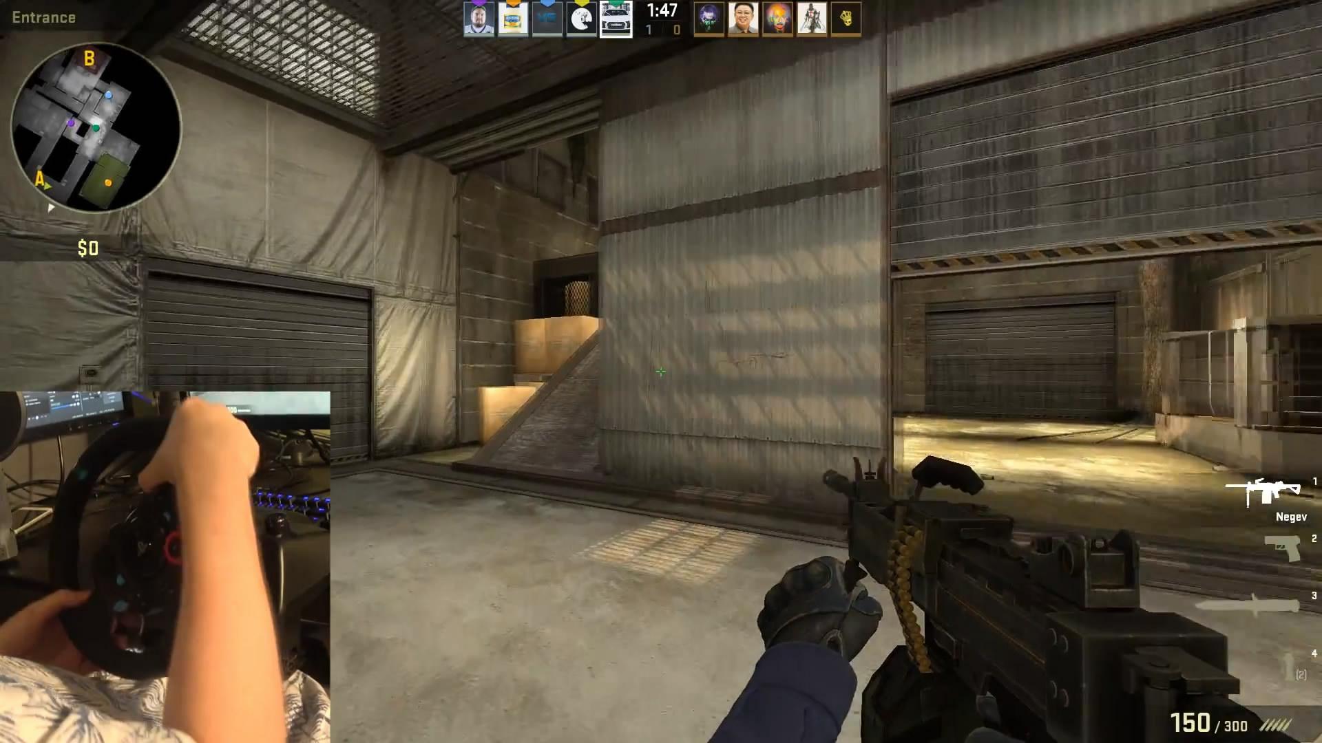 方向盘也可以玩《CS:GO》 国外玩家实验各种奇葩控制器